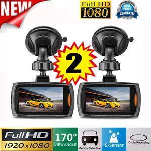 BOITE NOIRE VIDÉO 2x Voiture 1080 P 2.4 Full HD DVR Véhicule Caméra