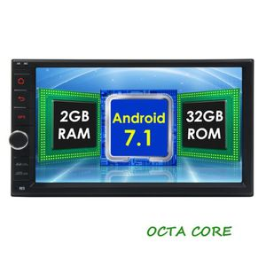 AUTORADIO 2 Go 32Go Android 7.1 Car Stereo - Double Din Blue