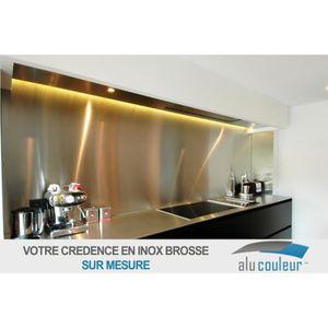 CREDENCE Crédence inox brossé 304 L H 20 cm x L 90 cm de 1m