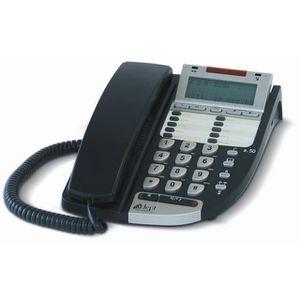 Téléphone fixe Poste analogique Adept A.50 Anthracite, poste télé