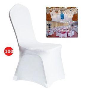 HOUSSE DE CHAISE Housse De Chaise 100 Pcs Blanc Decoration Artifici