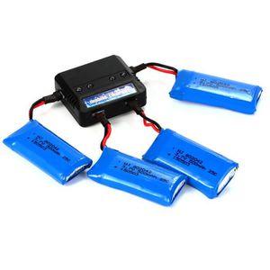 NACELLE POUR DRONE Chargeur + 4pcs 3.7v 500mah Batterie De Lipo 25c P