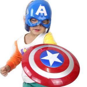 MASQUE - DÉCOR VISAGE Avengers Captain America Hero Bouclier Émettant de