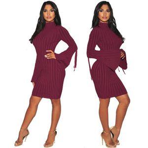 5900e7d33613 ROBE Femmes Robes Classique Courroies Automne et hiver
