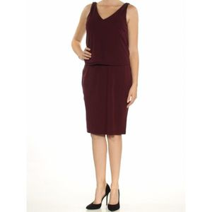 186eb64dcf ROBE RALPH LAUREN robe de soirée pourpre sans manches p ...
