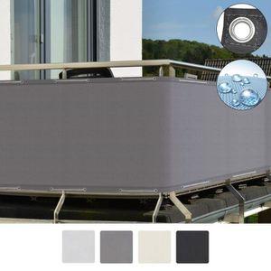 CLÔTURE - GRILLAGE Sol Royal Brise vue pour balcon 300x90cm Gris SolV