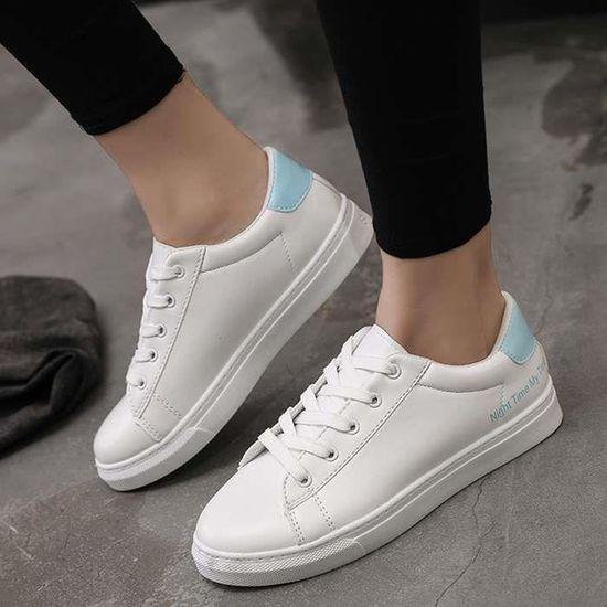 Baskets Chaussures femmes mode Bleu Bleu - Achat / Vente basket