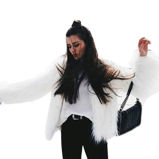 Manteau D'hiver Fox Dames Blanc De Parka En Veste Manteaux Chaud Fausse Womens Nouveau Fourrure qA1tC1