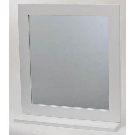 miroir avec tablette coloris blanc achat vente miroir salle de bain panneaux de particules. Black Bedroom Furniture Sets. Home Design Ideas
