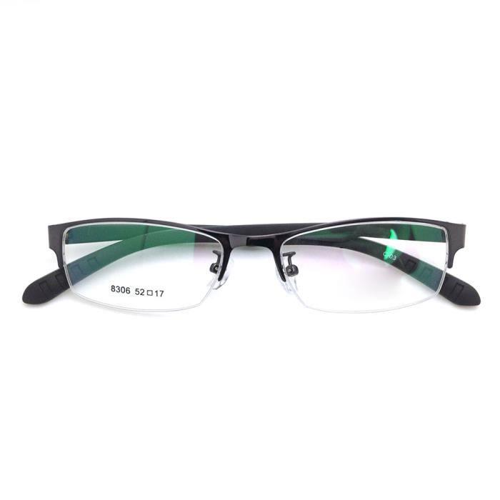 2668986465 Montures Optiques lunettes femme Cadres Verre mode demi-tram homme Cadre  Myopie Noir