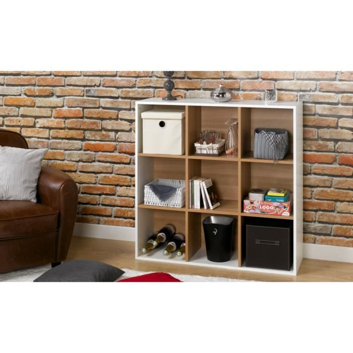 cube de rangement montparnasse 9 cases blanc achat vente meuble tag re cube rangement 9. Black Bedroom Furniture Sets. Home Design Ideas