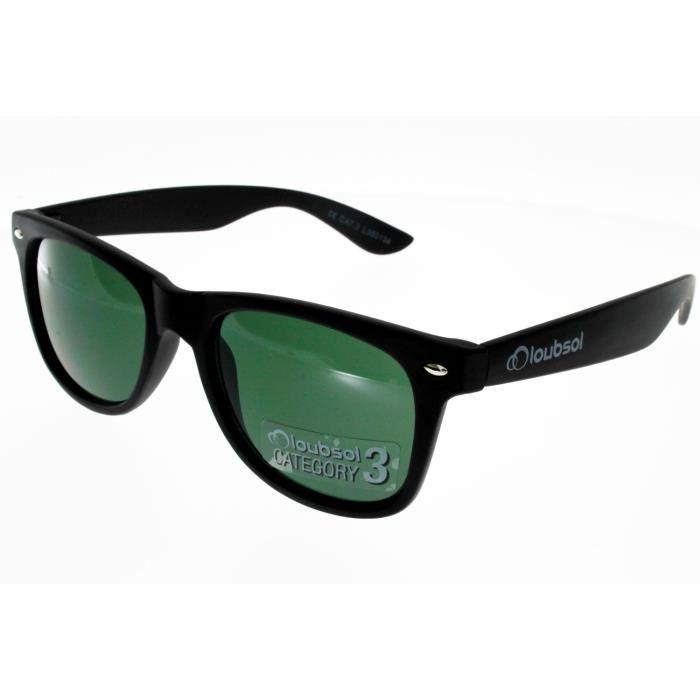 c258267ced48e3 LOUBSOL KANSAS NOIR MAT Mixte Indice 3 - Achat   Vente lunettes de ...
