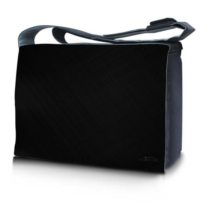 3f9567de6a ... luxe pour ordinateur portable - black. SACOCHE INFORMATIQUE LUXBURG 17  pouces Sac de Messager à Badoulière de