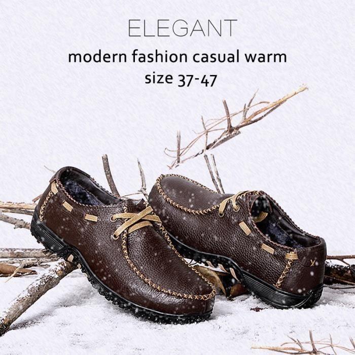 chaussure multisport pour Hommenoir 38 Hommes Chaussures d'hiver Dady Chaussures Mode Chaussures Plus coton velours Si_1900