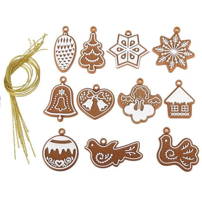 11en1 dessin anim biscuit no l ornement suspendue d co sapin arbre d corations jouet cadeau - Arbre de noel dessin ...