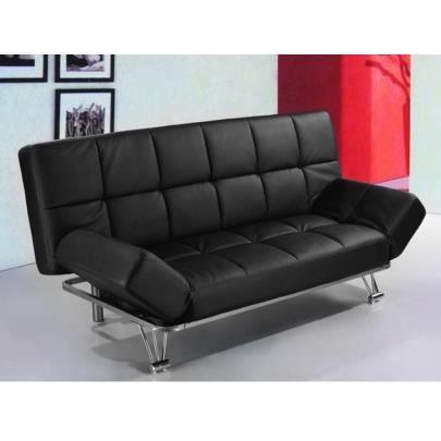 canap clic clac en simili espoo noir achat vente clic clac soldes d s le 10 janvier. Black Bedroom Furniture Sets. Home Design Ideas