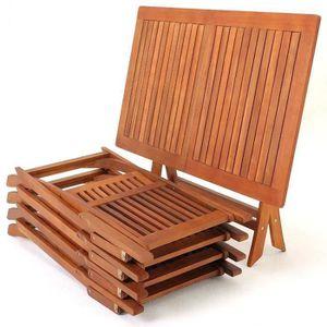 Salon de jardin bois acacia - Achat / Vente pas cher