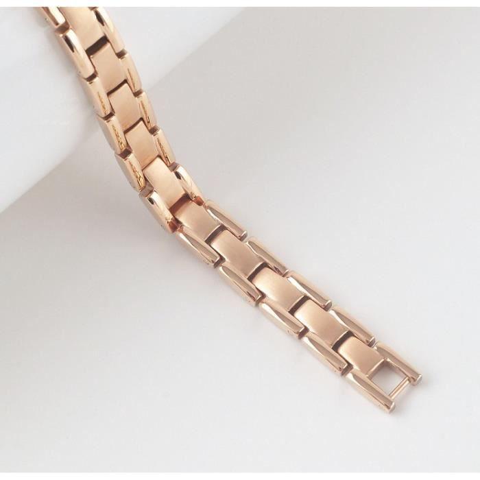 Bracelet magnétique en titane et cuivre - 14,7 cm