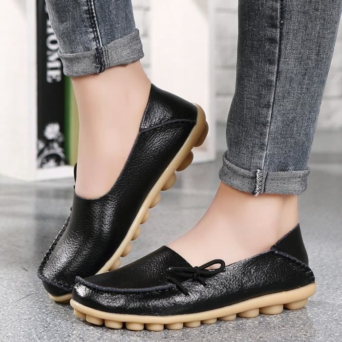Comfort Walking Office Flat Loafer JEY2L Taille-41