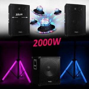PACK SONO PACK Sonorisation DJ Complet 2200W CUBE-1515 CAISS