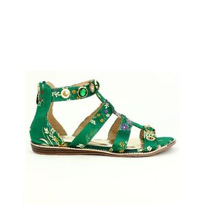 SANDALE - NU-PIEDS sandale - nu-pieds, Sandales Vert Chaussures Femme