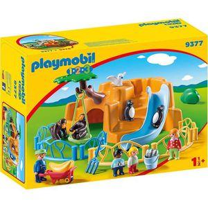 FIGURINE - PERSONNAGE PLAYMOBIL 1 2 3 9377 - Parc animalier - Nouveauté