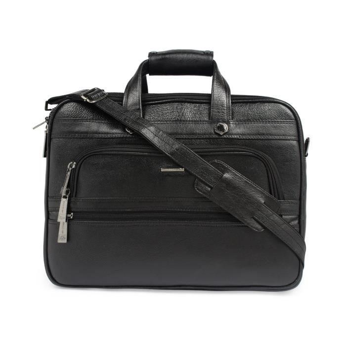 Bureau en cuir pur hommes cum Laptop Bag - A Marque En Inde Exquiste Designer Produit Q3BJJ