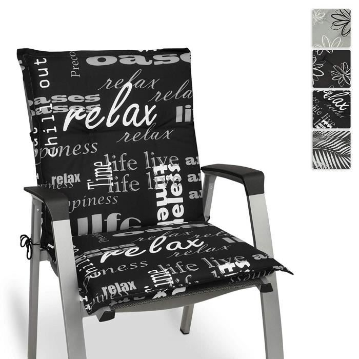 Beautissu Matelas Coussin pour Chaise Fauteuil de Jardin terrasse Relax  100x50x6cm - Design Flower