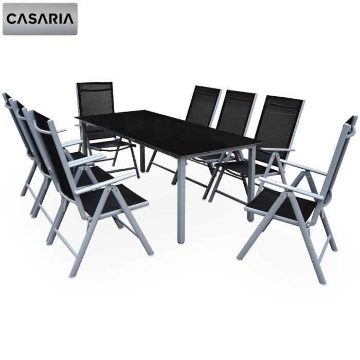 salon de jardin ensemble chaises et table bern 8 1 dossiers hauts pliables - Ensemble Chaise Et Table De Jardin