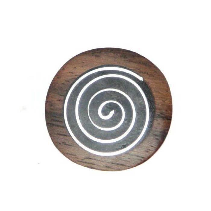 Bague ronde en bois avec motif n…