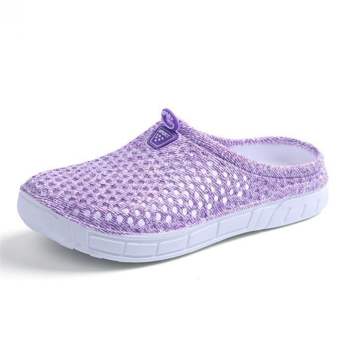 Femmes Pantoufles marque de luxe chaussures Haut qualité Pantoufle Plage Poids Léger chaussures nautique Sanda dssx076violet37