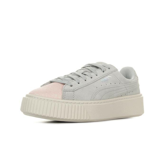 Puma Suede Platform Glam PS beige - Chaussures Basket