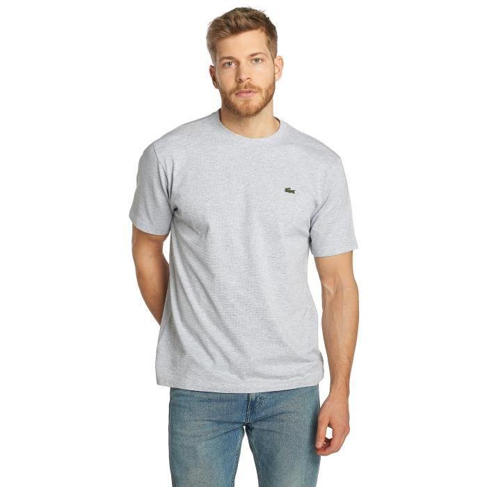 469073fe03 Lacoste Homme Hauts // T-Shirt Classic Gris Gris - Achat / Vente t ...