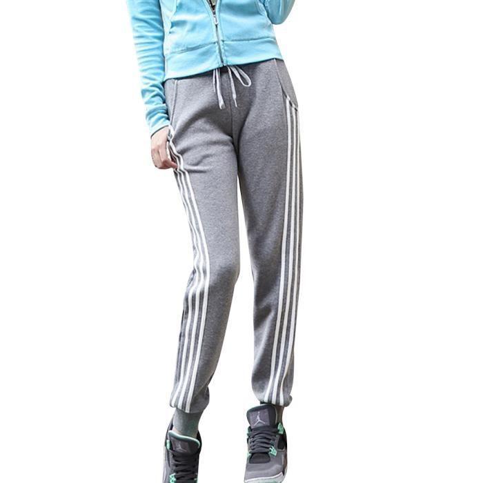 Minetom Femmes Décontracté Sweatpants Cordon Pantalon Serrage Rayures  Latérales Survêtement Jogging Fitness Gym Yoga Joggeurs f3226aa9d84