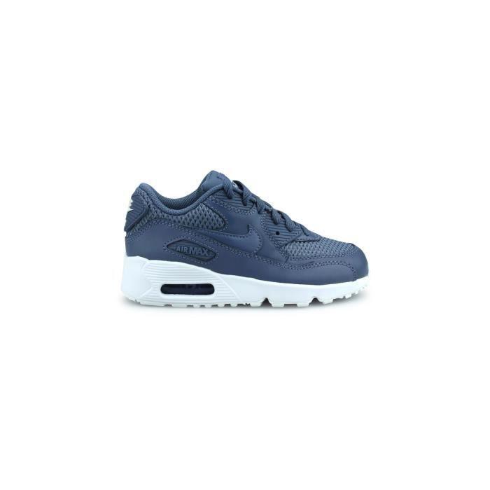 best loved f5afd 59d45 Basket Nike Air Max 90 Mesh Enfant Bleu 833420-409