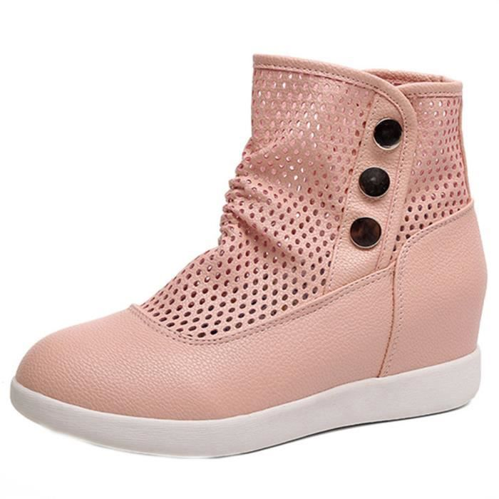Cuir Casual Chaussures Wy3761 En Mid Deessesale Veau Bottes Talon Brodé À femmes Mocassins R4L3j5A