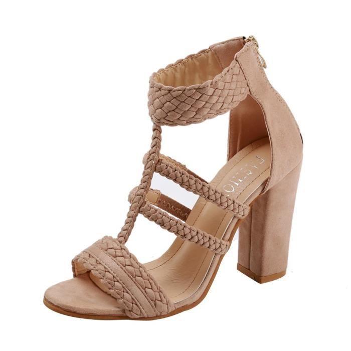 Les Soirée 35 Loisirs Talon Femmes Chaussures À Sandales Rouge Dames eIW2DEHb9Y