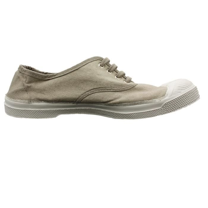 Bensimon Baskets Baskets toile taupe Geysly toile pwavxq