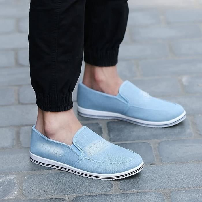 en Slip homme 40 46 confortable tissu respirant Casual pour Mode Chaussures confortable On BASKET et Loisirs bleu taille 5wPn1