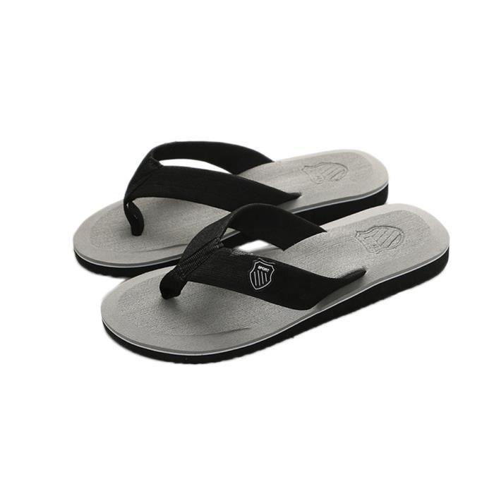 Pantoufles d'été pour hommes Pantoufles de plage Sandales d'intérieur et d'extérieur @SJF80104732GY 97h9U