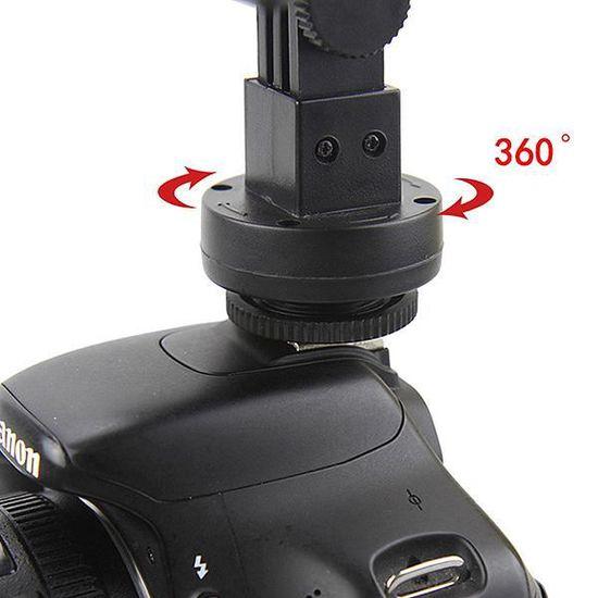 Dv Caméra Lampe Torche Pour 160 Accessoires Objectifs Vidéo Led WD9YE2HI