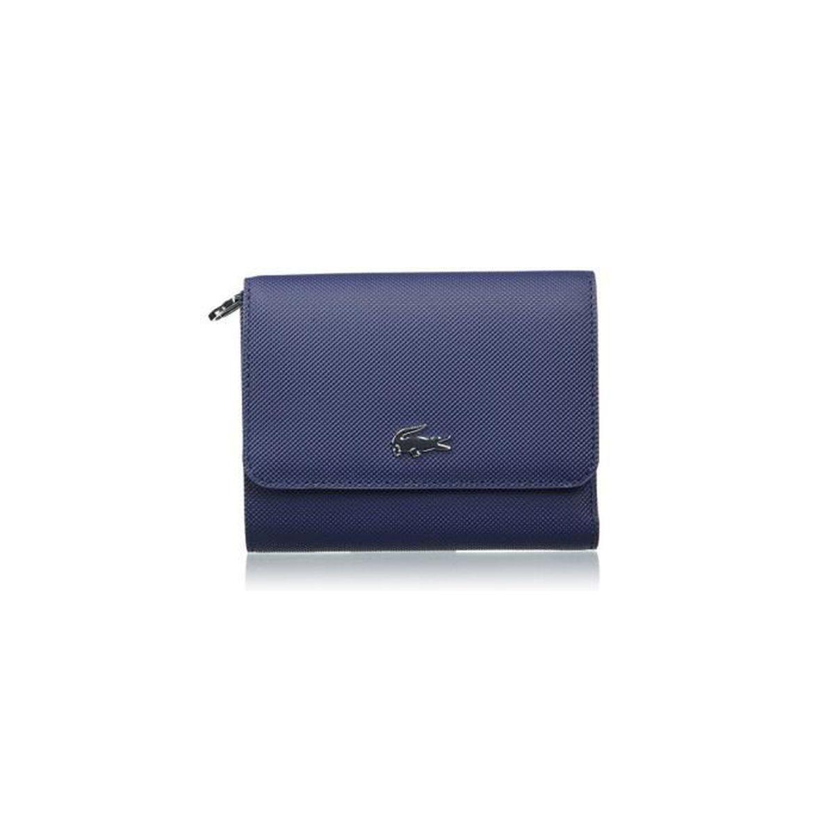 Lacoste Porte Monnaie Nf1967dc Peacoat 021 Taille 105 Cm Bleu