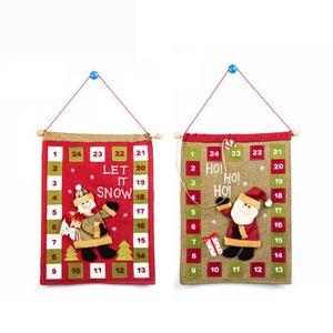 Calendrier de l'avent GSY61025602 Calendrier de l'Avent de Noël en tissu