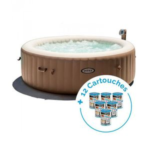 SPA COMPLET - KIT SPA Spa gonflable Intex PureSpa Bulles 6 personnes + 1