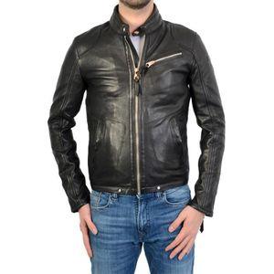 BLOUSON REDSKINS -  Mannix blackcoal - Blouson cuir de