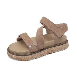 SANDALE - NU-PIEDS Chaussure Sandales Femme Talons Compensée Scratch 97d071c90d80