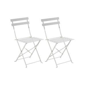 Chaise de jardin blanche - Achat / Vente pas cher