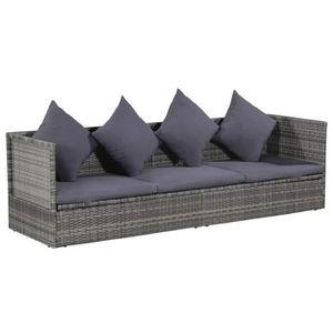 LIT ESCAMOTABLE Canapé de jardin Résine tressée 200 x 60 x 58 cm G