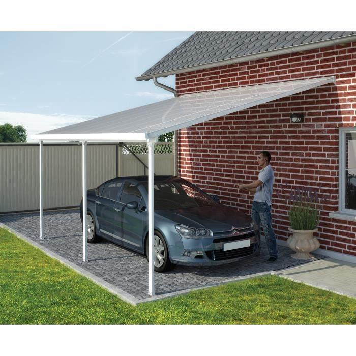 LIVRAISON INCLUSE Toit Couv'Terrasse adossé 4x10 m en polycarbonate.PERGOLA