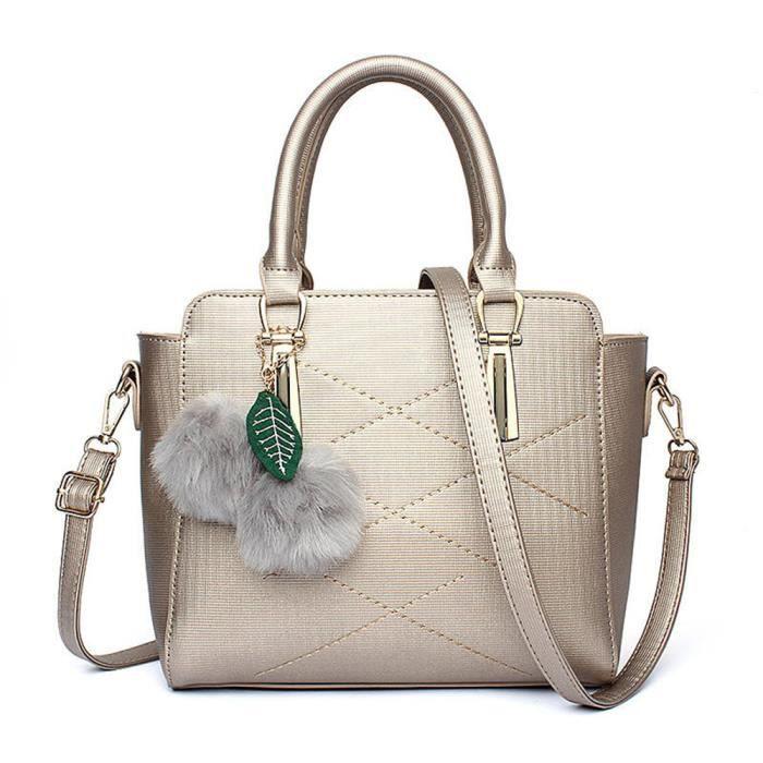 00990acf77 Femmes sac à main Marque De Luxe Haut qualité Nouvelle mode en cuir  Confortable délicat Meilleure vente Sac à bandoulière argent